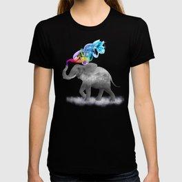 Colorful Smoky Clouded Elephant T-shirt