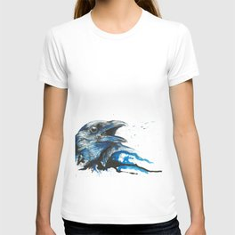 Blue crow T-shirt