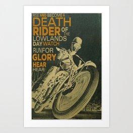 Death Rider Art Print