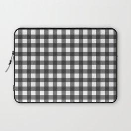 BLACK AND WHITE GINGHAM Laptop Sleeve