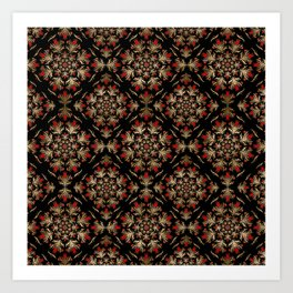 Turkish tulip - Ottoman tile pattern 15 Art Print