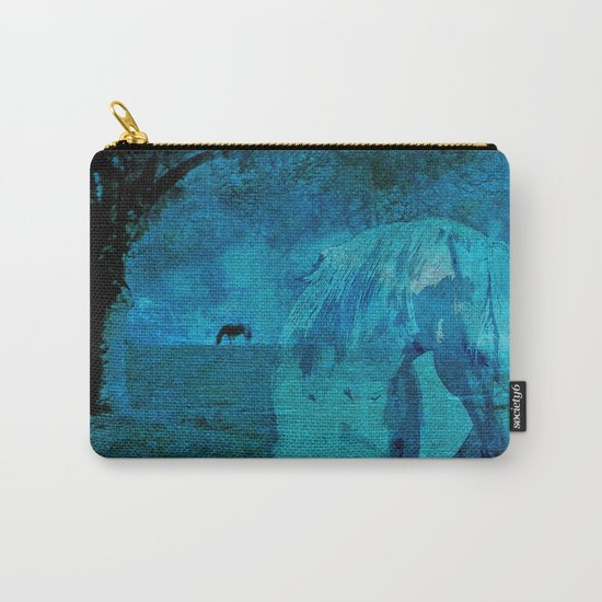 DREAM HORSE BLUE Carry-All Pouch