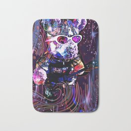 """""""Pinky the Pig's Guitar Solo in Space"""" Bath Mat"""