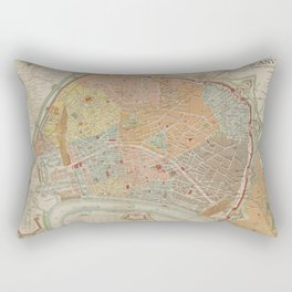 Vintage Map of Antwerp Belgium (1893) Rectangular Pillow