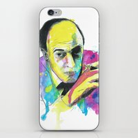 roald dahl iPhone & iPod Skins featuring Roald Dhal Watercolor by Enerimateos