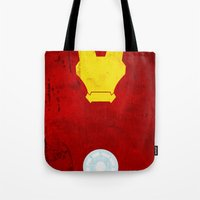 iron man Tote Bags featuring Iron Man by theLinC