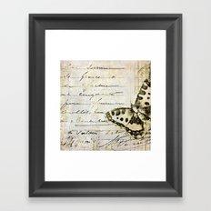 golden butterfly postale Framed Art Print