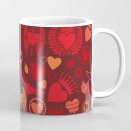 heart seamless pattern (valentine's day background) Coffee Mug