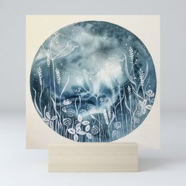 Floral Moon Mini Art Print