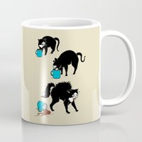 coffee Mugs featuring Coffee Cat by Boots