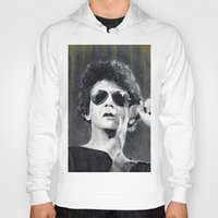 lou reed Hoodies featuring Lou Reed by Vikki Sin
