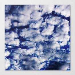deep blue clouds Canvas Print