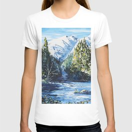 Landscape - The blue glacier - by LiliFlore T-shirt
