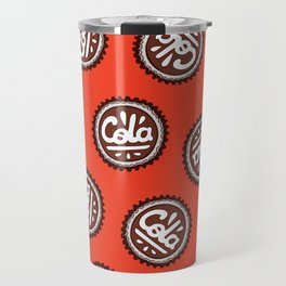 Cola Bottle Top Pattern Travel Mug