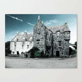 Fordyce Scotland Wee House Blue Vintage Canvas Print