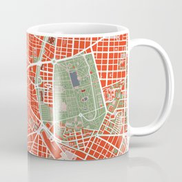 Madrid city map classic Coffee Mug