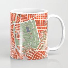 Madrid city map classic Coffee Mug