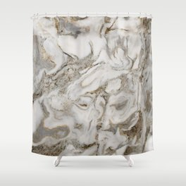 Crema marble Shower Curtain