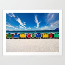 The Colorful Houses on the Beach photograph Art Print
