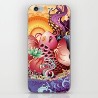 koi iPhone & iPod Skins featuring Koi by Nick La