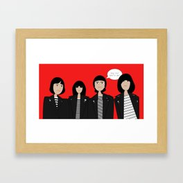 Ehy ho! Let's go! Framed Art Print