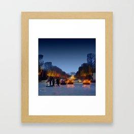 Champs-Elysees Framed Art Print