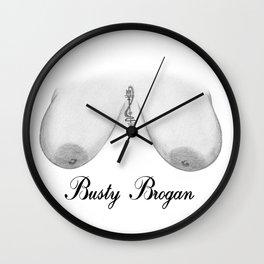 Busty Brogan Wall Clock