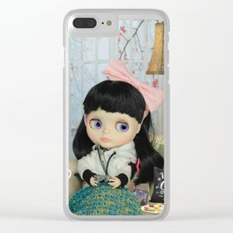 Winter, cold and windy day Clear iPhone Case