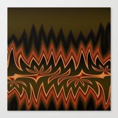 Fractal Tribal Art in Autumn Canvas Print