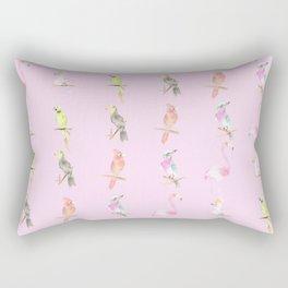 Tropical birds pattern, pink background Rectangular Pillow
