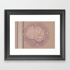tea cup pink edition  Framed Art Print