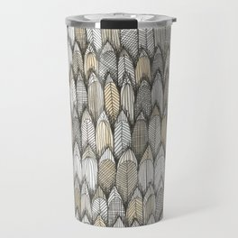 sketchy feather pattern in pale colors Travel Mug