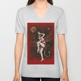 Vintage Devil Dancer Unisex V-Neck