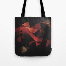 Orange Grunge Geometric Abstract Tote Bag