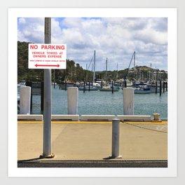 No parking at the harbor Art Print