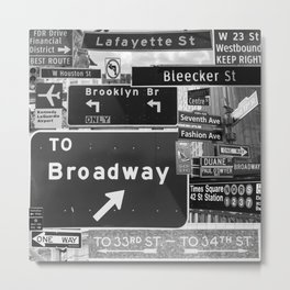 NYC streets signs Metal Print