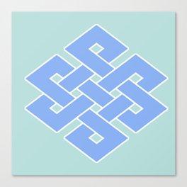 Eternal (soft blue & green) Canvas Print