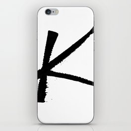 Letter K Ink Monogram iPhone Skin