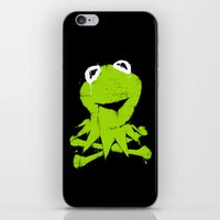 kermit iPhone & iPod Skins featuring Pochoir - Kermit by Krikoui