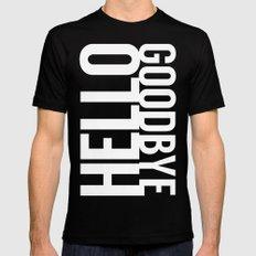 Hello Goodbye MEDIUM Mens Fitted Tee Black