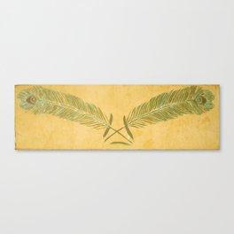 Peacock Batik Canvas Print
