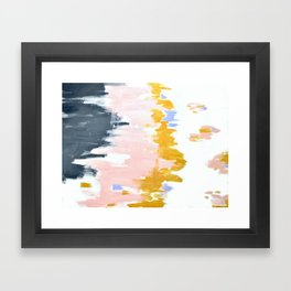 Multicolor spring abstract Framed Art Print