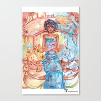 libra Canvas Prints featuring Libra by Trenita