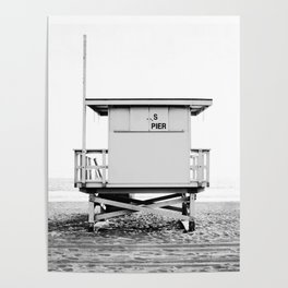 Beach Photography black and white print Poster