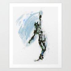 Sync Abstract Dancer Art Print
