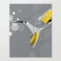 hummingbird Canvas Prints featuring Hummingbird by Steph Dillon