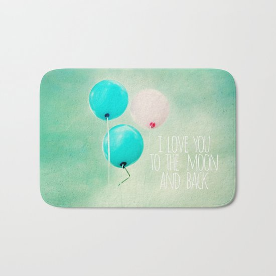 i love you to the moon and back Bath Mat