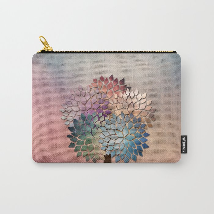 Abstract Petal Tree Carry-All Pouch