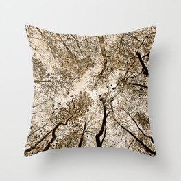 Sepia fall Throw Pillow