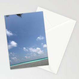 Clouds on the beach Stationery Cards